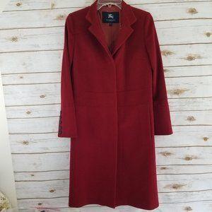 Burberry Calf Length Wool Cashmere Blend Coat